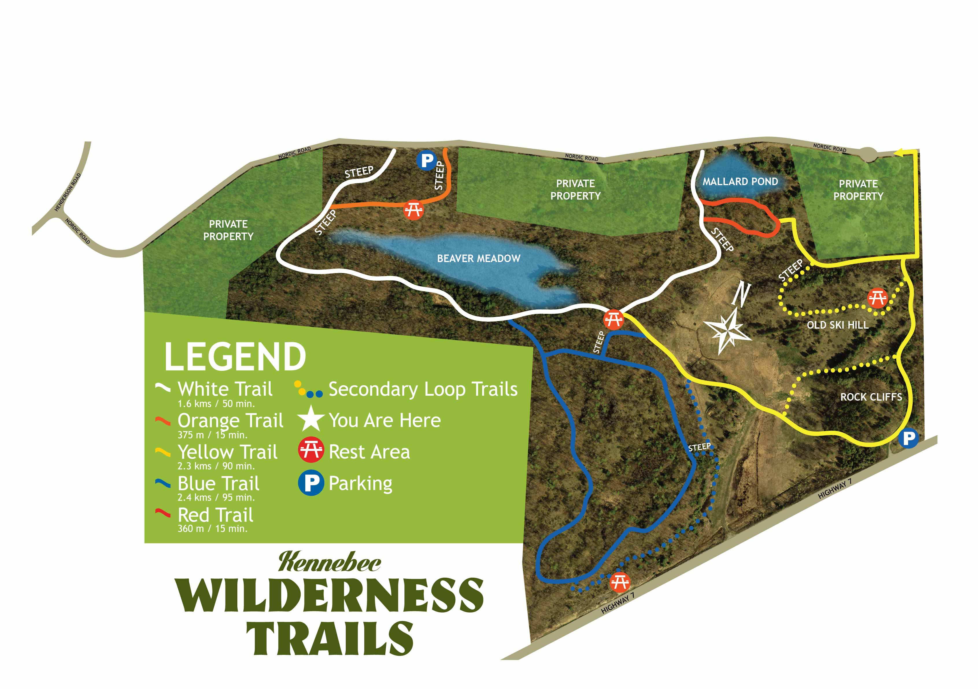 Kennebec Wilderness trails map